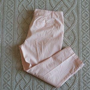 Loft EUC Light Pink Crop Pants Size 12